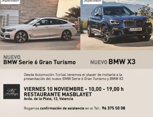 Presentación Nuevos BMW Serie 3 y BMW Serie 6 Gran Turismo el 10 noviembre en Mas Blayet